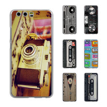 Vintage Camera audio tape cassettle style (Style Thin transparent phone Cover Case for Huawei P10 P10lite P8 P9 lite Mate8 Mate9