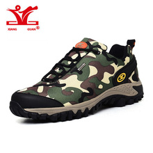 XIANGGUAN Hiking Sneakers Men and Women Outdoor Climbing Shoes Sport Waterproof Camo Trail Trekking Trainers Damping Scarpe Da(China)