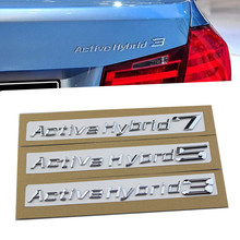 1set NEW For BMW Performance Active Hybrid 3 5 7 Trunk Bumper Number Letters Badge Emblem Tuning Sticker ActiveHybrid(China)