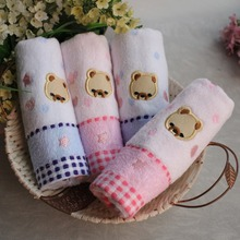 a romantic bear jacquard cotton soft absorbent cute small towel 25*50cm
