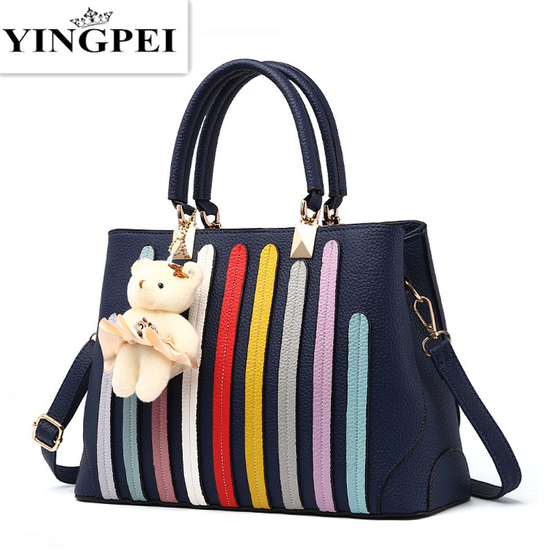 Canvas Bag Tote Striped Women Handbags Patchwork Woman Shoulder Bags New Fashion Crossbody messenger bags a Main Femme Casual <br><br>Aliexpress