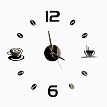 Free shipping 3D Best Home Decoration DIY Wall Clock Unique acrylic number Stickers Self Adhesive home Decor Modern Wall Clocks