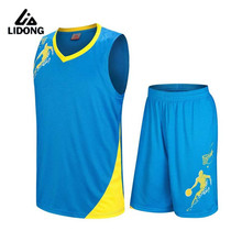 LIDONG Kids Basketball Jersey Sets Uniforms kits Child Sports Shirts Youth basketball jerseys shorts DIY Print Number Name Logo(China)