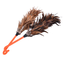 New 1pc 45cm Anti-static Feather Fur Brush Duster Dust Cleaning Tool Plastic Hooked Handle(China)