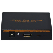 Wholesale HDMI to HDMI & Optical SPDIF Suppport 5.1 + RCA L/R Audio Video Extractor Splitter Converter Adapter Connector