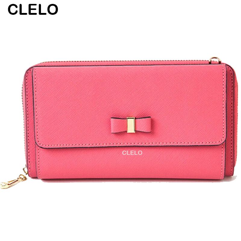 CLELO 2017 New womens long Genuine Leather casual wallets Messenger Bags Fashion Womens Crossbody Bag Shoulder handbags <br><br>Aliexpress