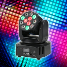 2017 Hot Spot RGBW Washing Effect Moving Head Stage Light Disco Led Moving Head Spot Stage Light Professional Dj Dmx Soundlight(China)