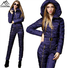 SAENSHING Winter Ski Suit Women One Piece Mountain Skiing Suit Super Warm Duck Down Snowboarding Suits Breathable Ski Jacket(China)