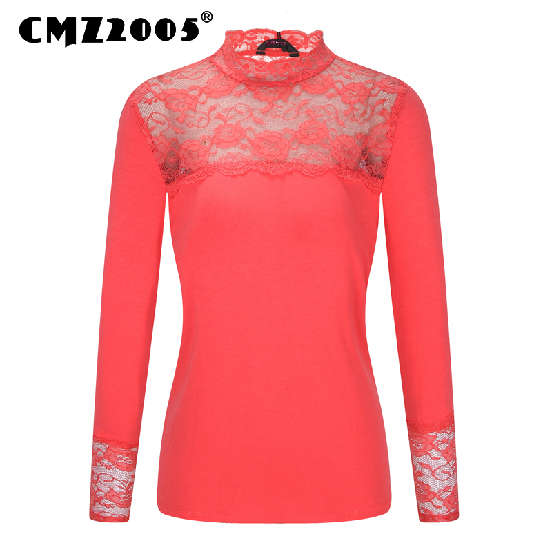 Tops Blusa Unicorn Lace Autumn Women T-shirt Patch...