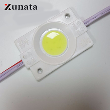 2017 new 1Pc 2.4W Ultra Bright COB LED Module light Pure/Warm White Strip Light Lamp Bead Chip diy DC 12V lighting Waterproof