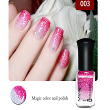 21 color Pregnant women,children all can use non-toxic and tasteless water-based nail polish can tear variable color temperature(China)