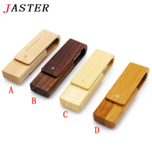 JASTER rotatable Wooden pen drive personality gift logo customized wood USB flash drive memory stick pendrive 4G 8GB 16GB 32GB