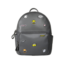 Kiitos Life Casual PU leather grey embroidery backpacks for girls in ICON series(FUN KIK store)(China)