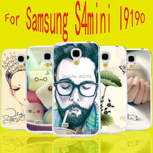 Ariel Skull Deer Balloon Fish Heart Lotus Color Painting Transparent Hard Cell Phone Case For Samsung Galaxy S4 Mini I9190 Case
