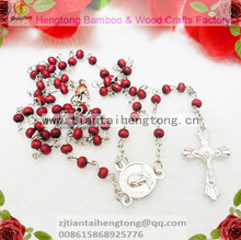 free shipping cheap 4mm mini maple wood bead rosary with Lobster Clasp at the end 10pieces/lot(China)