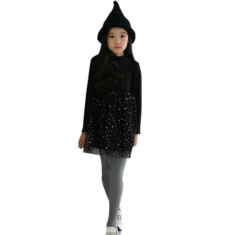 1 Piece Black Princess Dress Children Costume Ball Gown Girl Long Sleeve Birthday For Girls Party Wedding Clothing Casua <br>