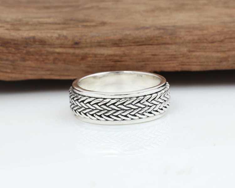 Cool 925 Sterling Silver Rope Ring