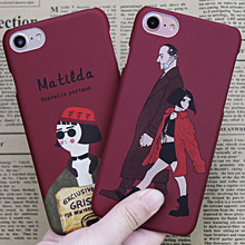 Anti-Knock 360 Full Cover Protection PC Cases for iPhone 7 8 Plus Luxury Plastic Case for iPhone 6 6s Case Leon Mathilda Movie(China)