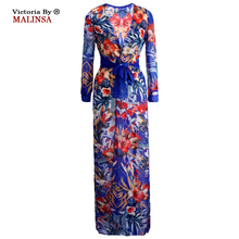 Malinsa pareo Cover Ups Flower Dress Summer Women Sexy Swimsuit Cover Up Chiffon plavky Plus Size Swimwear Bikini Long Beach(China)