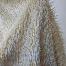 "Beige   Shaggy Faux Fur Fabric (long Pile fur) Costumes  Cosplay  Baby Photography Props  36""x60""  Sold Bty  Free Shipping"
