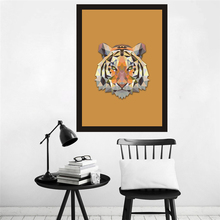HAOCHU Modern Abstract Tiger Head Wall Pictures On the Canvas Nordic Wall Art Print Poster Home Decor Unique Gift Artwork