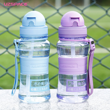 UZSPACE Baby Water Bottle Tritan Kid Bottles With Straw Child drinking bottle for water Sport Feeding Plastic Tumbler leak proof(China)