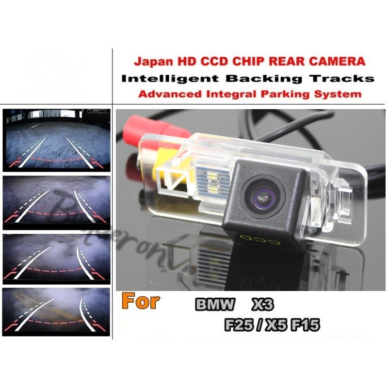 For BMW X3 F25 / X5 F15 Smart Tracks Chip Camera / HD CCD Intelligent Dynamic Parking Car Rear View Camera<br><br>Aliexpress