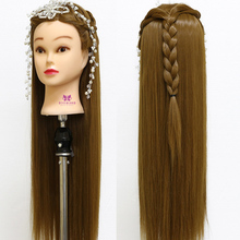 "Hairdressing Training Head 30"" Female Dummy Head Long Hair Model + Free Clamp(China)"