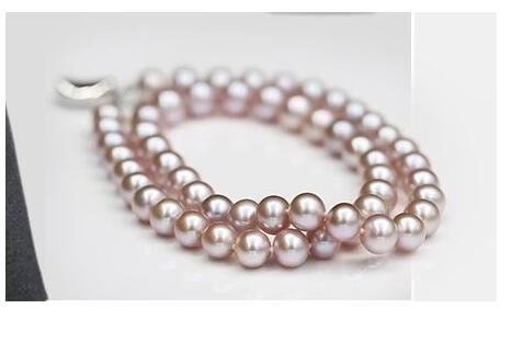 gorgeous 9-10mm south sea round  pearl necklace 18inch silver KKK