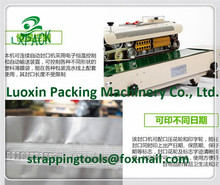 LX-PACK Lowest Factory Prices Continuous plastic bag sealing machine date code heat shrinking sealer,impulse sealer adding gas(China)