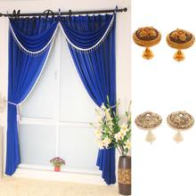 MagiDeal 2x Vintage European Curtain Tie Back Hooks Wall Clothes Hanger Sunblind Pothook Clasp(China)