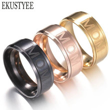 Mixed colors MIX Sizes 36pcs MOM & DAD etched Stainless Steel Rings Father's Mather's Birthday Gift Christmas Xmas Gift Favor(China)