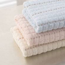 Face Towel Quick-Dry Absorbent 30x67cm Mini Hair Drying Washrag Stripe Soft 2017 Knitted Towel Travel Portable Hand Towel(China)
