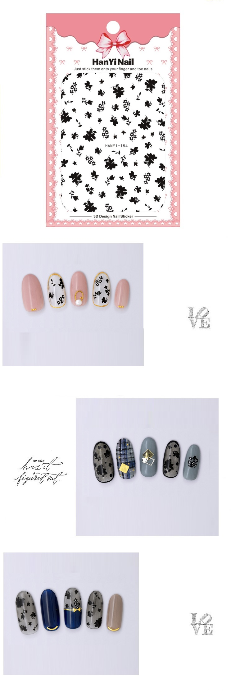 Related images of cc lv c logo stickers decals nails custom stickers 3 pcs air decal nail stiker natal natal kartun desain nail sticker