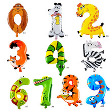 High Sale 1Pcs Animal Number Foil Balloon Wedding Happy Birthday Party Decoration Balloons Kids Babys Children's Toys Gifts(China)