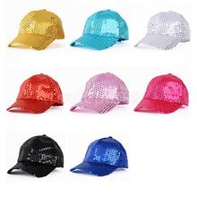 Cool 2016 New Sequins Adult & Kids Fashion Caps Children Baseball Caps For Boys Girls Sun Hip Hop Snapback Caps Summer Hat