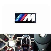 1PCS M Mpower M-tech Emblem Badge Sticker Wheel Decal for BMW E46 E30 E34 E36 E39 E53 E60 E90 F10 F30 M3 M5 M6 Car styling