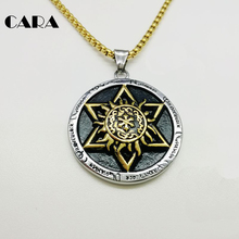 CARA New 2 tone Star of David pendant necklace Good quality 316L stainless steel Religion seal necklace & Pendant men CARA0232(China)