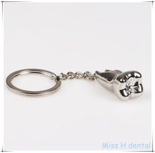 Teeth Keychain Dentist Decoration Key Chains Stainless Steel Tooth Model Shape Dental Clinic Gift(China)