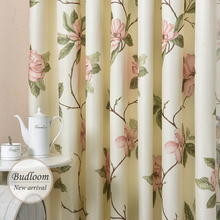 Modern Designed American Style Printed Flower Curtains For Living Room Window Drapes For Bedroom(China)