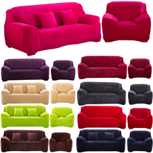 New Sofa Cover Funiture Slipcover Plush Washable Flexible Stretch Big Couch Cover Loveseat Solid Sofa Slipcover