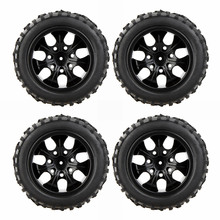 4Pcs High Performance 1/10 Off-Road Car Wheel Rim and Tire 8020 for Traxxas HSP Tamiya HPI Kyosho RC Car(China)