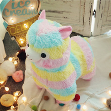 17cm/35cm Kawaii Rainbow Alpaca Plush Sheep Toys Japanese Stuffed Animals Doll Alpaca Plush Dolls Soft Kid's Toys Home Decor