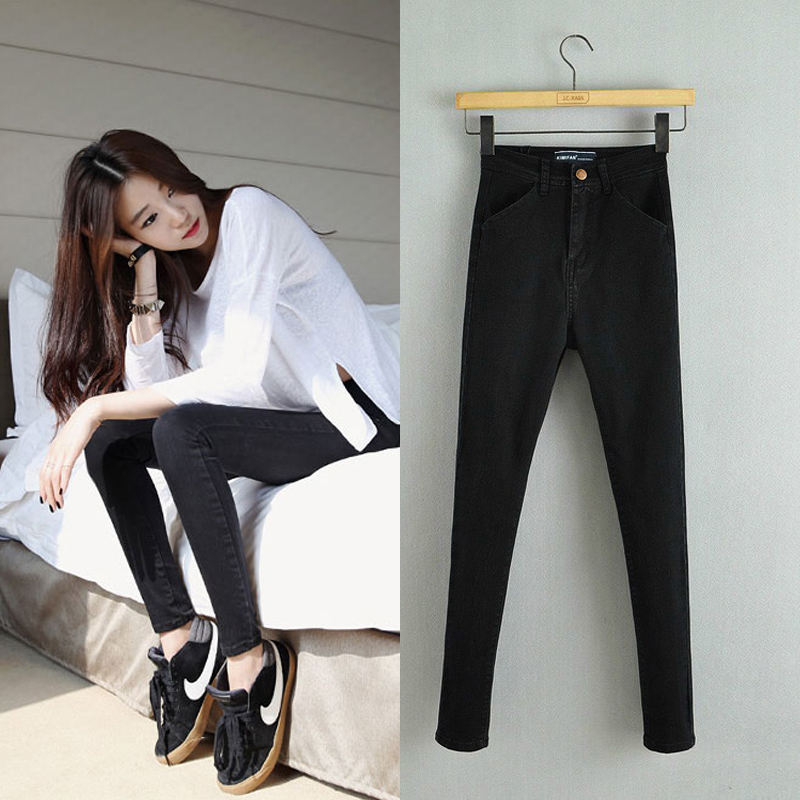 Spring and Autumn New Women Fashion High Waist Long Jeans, Femme Slim Jean Pencil Skinny Denim Trousers, Stretch Casual PantsОдежда и ак�е��уары<br><br><br>Aliexpress