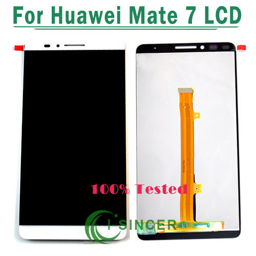5PCS/LOT White/Gold /Black For Huawei Ascend Mate 7 Mate7 LCD display screen+Touch digiziter Assembly Free DHL<br>