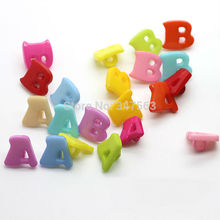 A51 Color alphabet for children decorative handmade buttons sewing buttons wholesale production scrapbooking craft accessories
