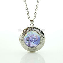 Art picture glass dome locket pendant Unicorn leisure series essential hottest animal jewelry horse morocco fashion jewelry N980