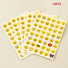 10 Pcs sticker 480 classic Emoji Smile face stickers for notebook albums message Twitter Large Viny Instagram Classical toys(China)