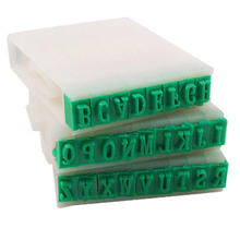 High Quality 1 Set Detachable Plastic Rubber 26 Letters Stamp English Alphabet Stamp Crafts Office Marking Supplies