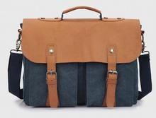 on sale cotton men briefcase bag canvas computer leisure business messenger bag